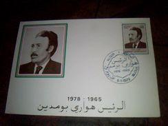 Algerie Document Philathelique  Sur Cp  1 Er Jour D Emission Personage 1978/1965 - Stamps