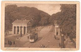 Düsseldorf - Ratinger Tor - 1923 - Feldpost / België Legerposterij / Postes Militaires Belgique - Tramway /tram - Duesseldorf