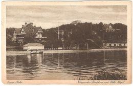 Essen - Kruppsches Boothaus Und Villa Hügel - 1923 - Feldpost / België Legerposterij / Postes Militaires Belgique - Essen