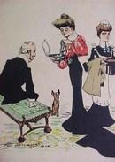 Cpa ILLUSTRATEUR   Felix Jobbé Duval 1904 , LES OEUFS  PÂQUES DU VIEUX MARCHEUR  BIJOUX ,OLD  MAN OFFERING JEWELLERY - Illustrateurs & Photographes