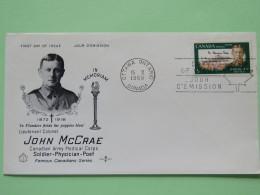 Canada 1968 FDC Cover - John McCrae - Canadian Army Medical Corps - 1952-.... Regering Van Elizabeth II