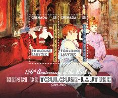 GRENADA 2014 ** Painting Henri De Toulouse-Lautrec S/S - OFFICIAL ISSUE - DH9999 - Künste
