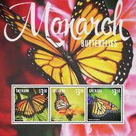 GRENADA 2014 ** Monarch Butterflies Schmetterlinge M/S I - OFFICIAL ISSUE - DH9999 - Schmetterlinge