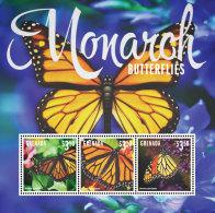 GRENADA 2014 ** Monarch Butterflies Schmetterlinge M/S II - OFFICIAL ISSUE - DH9999 - Schmetterlinge
