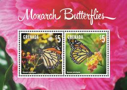 GRENADA 2014 ** Monarch Butterflies Schmetterlinge S/S II - OFFICIAL ISSUE - DH9999 - Schmetterlinge