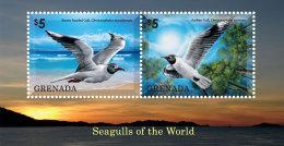 GRENADA 2014 ** Seagulls Möwen S/S I - OFFICIAL ISSUE - DH9999 - Möwen