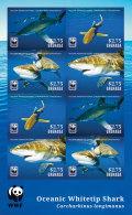 GRENADA 2014 ** WWF Oceanic Whitetip Shark Haie M/S - OFFICIAL ISSUE - DH9999 - Meeressäuger