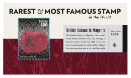 GUYANA 2014 ** Rarest & Most Famous Stamps S/S - OFFICIAL ISSUE - DH9999 - Briefmarken Auf Briefmarken