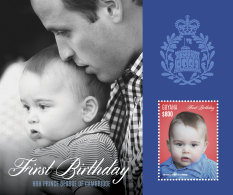 GUYANA 2014 ** 1st Birthday Prince George Of Cambridge S/S - OFFICIAL ISSUE - DH9999 - Königshäuser, Adel