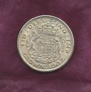 GREAT BRITAIN GB UK REPLICA COIN ONE CROWN 1937, Diameter 40 Mm,weight 18.60 Gram - 1 Sovereign