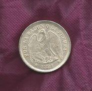 CHILE REPLICA COIN ONE PESO 1881, Diameter 40 Mm,weight 17.24 Gram - Chile
