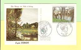 2077.24. FDC 1er Jour 1977. 12 Fevrier. Corot. Pt De Mantes . Cote 2013.. 4.00 €. Ttb. Prix PAF* - 1970-1979