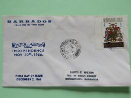 Barbados 1966 Cover To Bridgetown Barbados - Arms Pelican Bird Fish - Barbados (1966-...)