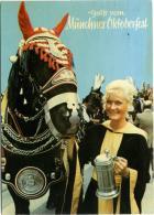 DEUTSCHLAND  Grusse Vom Münchner Oktoberfest  Horses Horse - Cavalli