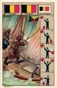 6 Cards Complete Litho Chromo Set C1900 PUB Crême LIEBIG CREME - German Text  Serie 317 MArine Flags Fishing Sailing - Liebig