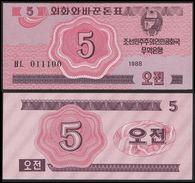 BANK OF KOREA 5 CHON 1988 Pick 32 UNC - Corée Du Sud