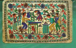 CP MEXIQUE Reproduccion De Una Pintura En Papel Amate - Paper (natural Bark) From The State Of Guerrero - Mexico