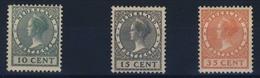 PAYS -  BAS     N°  154  /  156 - 1891-1948 (Wilhelmine)