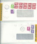 6 L( Dont 2 Lr) Avec  BRIAT  Affranchis à 24.00fr (1992) Et 25.50fr (1991)+ 1993/95/96/97.....à Voir - 1989-96 Marianne Du Bicentenaire