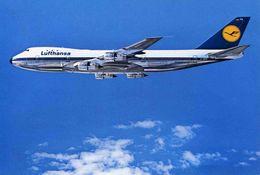 "AVIONS / AEROPORT   /  L 20   /   ""  LUFTHANSA   BOEING 747     /     ""   CPM / CPSM  10 X 15 - 1946-....: Moderne"