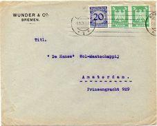 GERMANY REICH 1924. Cover From Bremen To Amsterdam, Netherlands - Deutschland