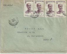 4030 MADAGASCAR Lettre 1949 3 F Sépia Général Gallieni Yv 310 - Madagaskar (1889-1960)