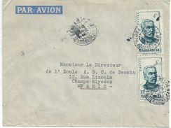 4029 MADAGASCAR Lettre 1949 6 F Sépia Général Duquesne  Yv 314 - Madagaskar (1889-1960)