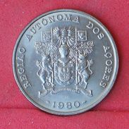 AZORES 25 ESCUDOS 1980 - KM# 43 - (Nº18621) - Azores