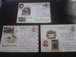 3 Lettres Av Timbres - Europe - Russie Et URSS - 1923-1991 URSS - 1941-50 - Lettre - Document -By Air-mail - 1923-1991 USSR