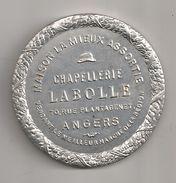 Miroir Publicitaire Rond, De Sac Ou De Courtoisie. Chapellerie Labolle, Rue Plantagenet à Angers - Other