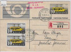 1937 P144 FD Jahrhundertfeier S.I.A. Bern-Gurnigel Charge To Payerne 210x/311x Ersttag - Entiers Postaux