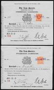 Great Britain: Two 1935 Law Society Receipts - George V Stamps Revenue Use - 1902-1951 (Rois)