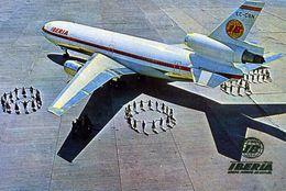 "AVIONS / AEROPORT   /  L 21   /  IBERIA     ""    /   DC 8 /     ""   CPM / CPSM  10 X 15 - 1946-....: Moderne"