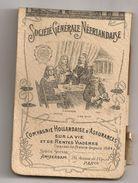 Calendrier Carnet 1902. Société Générale Néerlandaise à Paris. Assurances + Crayon - Petit Format : 1901-20