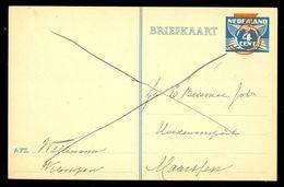 HANDGESCHREVEN BRIEFKAART 3 CENT OPDRUK Op VOORDRUK 4 CT UIT 1939 Van KAMPEN Naar MAARSSEN (10.647f) - Postal Stationery