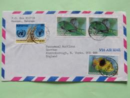 Bahamas 1987 Cover To England - FAO 40 Th Anniv. - Fishes (Scott 585, 604, 2x605 = 3.30 $) - Bahamas (1973-...)