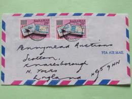 Bahamas 1987 Cover Nassau To England - AMERIPEX Stam On Stamp - - Bahamas (1973-...)