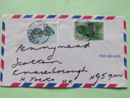 Bahamas 1989 Cover Nassau To England - Fishes - Bahamas (1973-...)