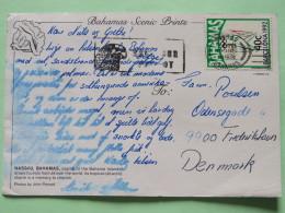 """Bahamas 1992 Postcard """"""""cruise Ships - Boats"""""""" Nassau To Denmark - Barcelona Olympics Javelin - Parrot Slogan - Bahamas (1973-...)"""