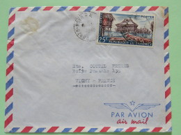 Dahomey (Benin) 1961 Cover Porto-Novo To Vichy France - Village Ganvie - Hut - Boats - Benin - Dahomey (1960-...)