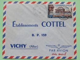 Dahomey (Benin) 1961 Cover Natitangou To Vichy France - Village Ganvie - Hut - Boats - Benin - Dahomey (1960-...)