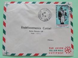 Dahomey (Benin) 1965 Cover Porto-Novo To Vichy France - Toussaint Louverture Haiti - Benin - Dahomey (1960-...)