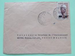 Dahomey (Benin) 1967 Cover Porto-Novo To Vichy France - Man With Hat - Overprinted 30Fr On 65Fr (Scott #232) - Benin - Dahomey (1960-...)