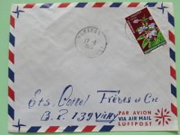 Dahomey (Benin) 1967 Cover Parakou To Vichy France - Flowers - Benin - Dahomey (1960-...)