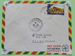 Dahomey (Benin) 1968 Cover Parakou To Vichy France - Lion - Benin - Dahomey (1960-...)