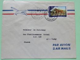 Dahomey (Benin) 1969 Cover Porto-Novo To Vichy France - Lion - Benin - Dahomey (1960-...)