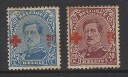 P688.-. BELGIUM - 1918 - SC#: B39- B40 - USED - KING ALBERT I . SCV: US$ 15.00 ++ - 1918 Red Cross