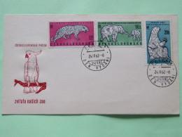 Czechoslovakia 1962 FDC Cover Animals Birds Parrot Bear Elephant Leopard - Czechoslovakia