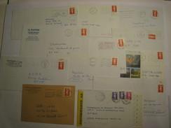12 L Avec BRIAT.....(dont 1 Roulette & 1lr)...affranchies De 2.50  à 24.00 Fr....mono Ou Multi Timbres.....à Voir - 1989-96 Bicentenial Marianne