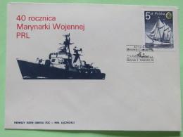 Poland 1985 FDC Cover - Ship - Polish Navy 40 Anniv. - 1944-.... Republic